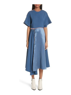 Roksanda gianna asymmetrical satin dress