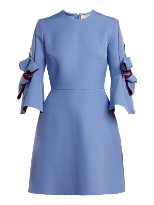 Roksanda harlin bow sleeve bonded crepe mini dress