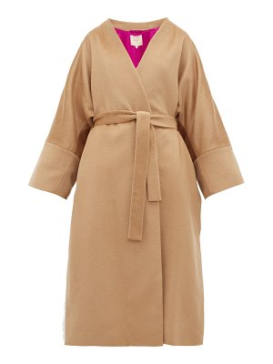 Roksanda larisa belted wool blend coat