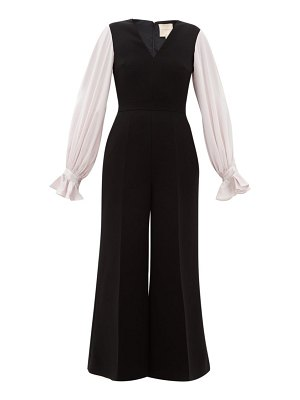 Roksanda lili crepe and silk satin jumpsuit