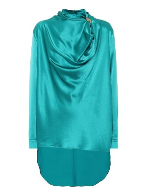 Roksanda limela draped silk-satin top