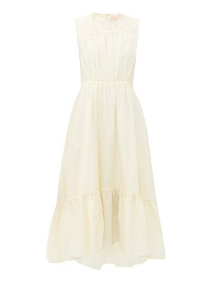 Roksanda lucia gathered cotton-poplin midi dress