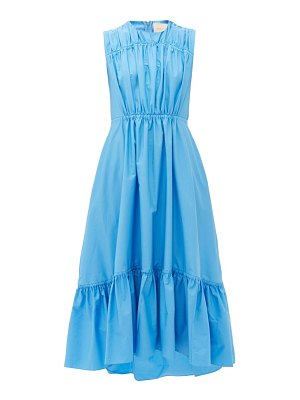 Roksanda lucia tiered cotton-poplin dress