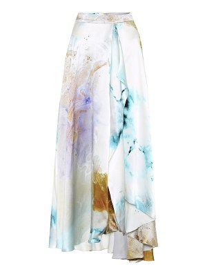 Roksanda printed high-rise silk skirt