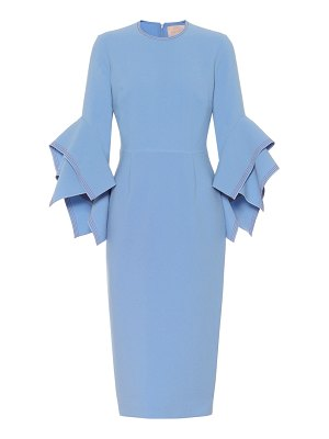 Roksanda ronda crêpe midi dress