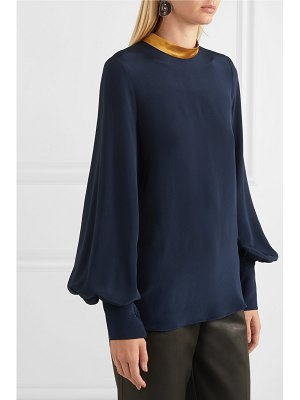Roksanda satin-trimmed silk blouse