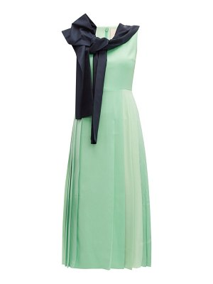 Roksanda tie neck pleated midi dress