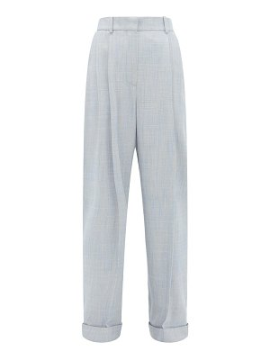 Roksanda venezio double-pleat turn-up trousers