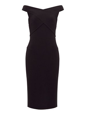 Roland Mouret amarula off-the-shoulder wool-crepe dress
