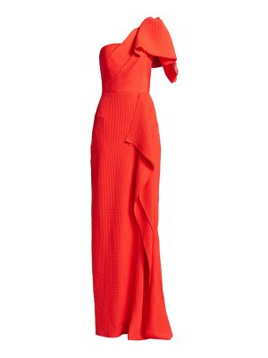 Roland Mouret belhaven one-shoulder silk gown