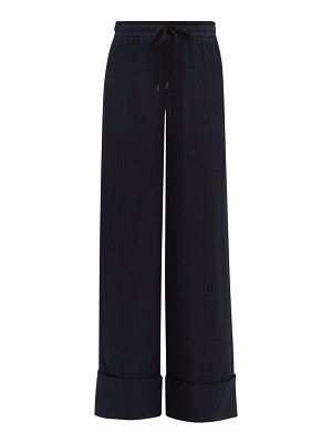 Roland Mouret betterton checked jacquard silk trousers