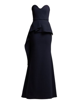 Roland Mouret bond strapless wool crepe gown