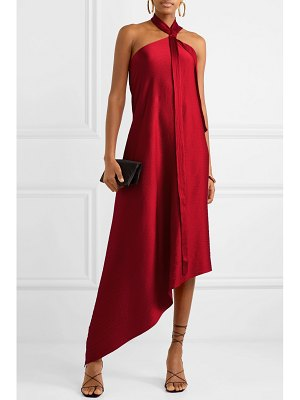 Roland Mouret copernicus draped hammered silk-satin dress
