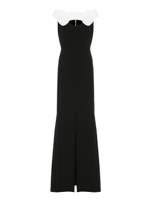 Roland Mouret elly double wool-crêpe gown