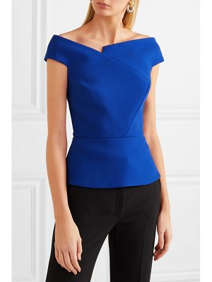 Roland Mouret elmswell off-the-shoulder crepe top