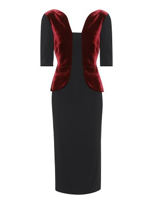 Roland Mouret Comberton velvet and crêpe dress