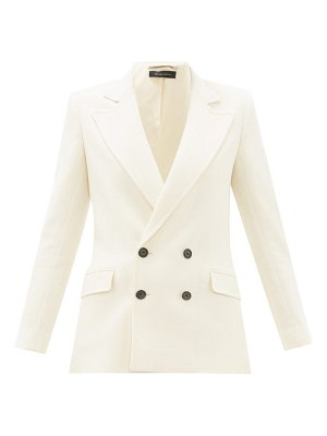 Roland Mouret gilroy double breasted wool crepe jacket