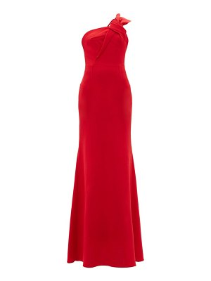 Roland Mouret gosford asymmetric wool-crepe gown
