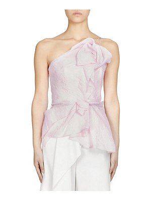 Roland Mouret hankow organza one-shoulder top