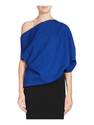 Roland Mouret middlesmoor stretch boucle one-shoulder top