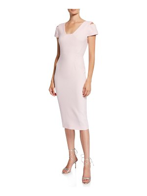Roland Mouret Minetta Cold-Shoulder Dress