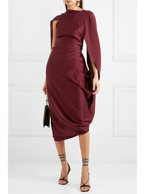 Roland Mouret open-back draped hammered-silk midi dress