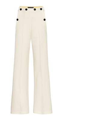 Roland Mouret palmetto wool-crêpe flared pants