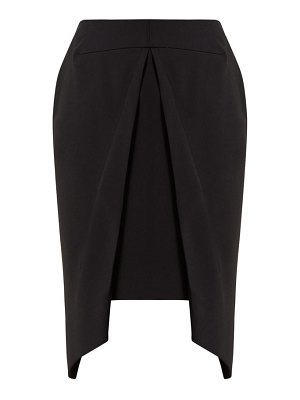 Roland Mouret pan draped overlay crepe skirt
