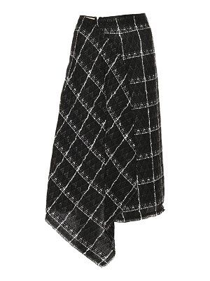 Roland Mouret plaid cotton-blend skirt