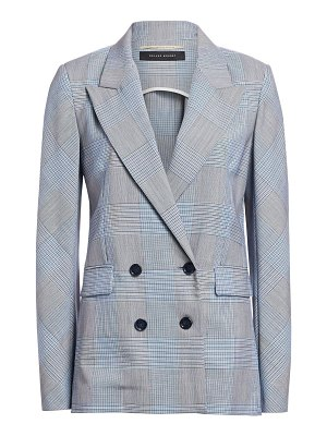 Roland Mouret plaid double-breasted blazer