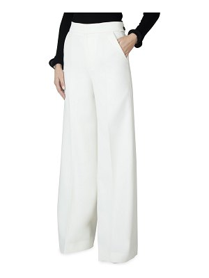 Roland Mouret Williamson Wide-Leg Wool Trousers