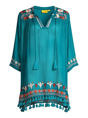 Roller Rabbit serafina embroidered tassel tunic