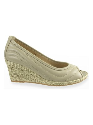 Ron White Ellary Quilted Napa Wedge Espadrille Sandals