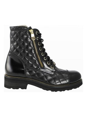 Ron White Tiffany Quilted Leather Combat Booties