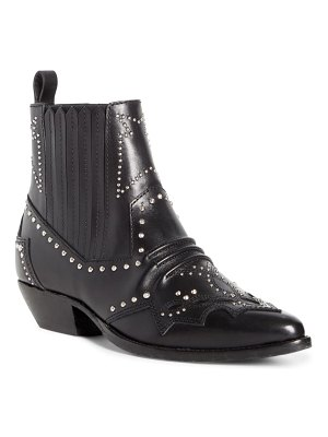 Roseanna studded leather western boot