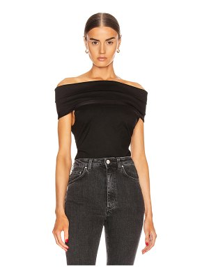 Rosetta Getty banded off the shoulder top