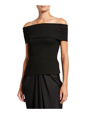 Rosetta Getty Banded Off-the-Shoulder Top