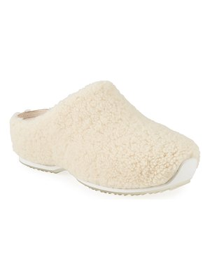 Rosetta Getty Cozy Shearling Clogs