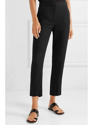 Rosetta Getty cropped satin-crepe tapered pants