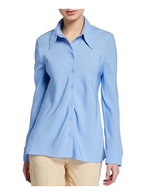 Rosetta Getty Long-Sleeve Bias-Cut Button-Front Shirt