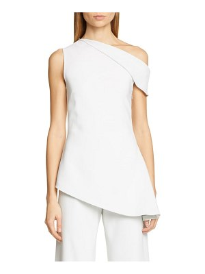 Rosetta Getty one-shoulder jersey blouse