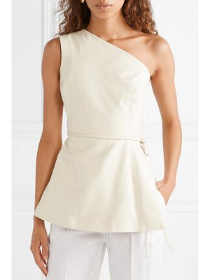 Rosetta Getty one-shoulder leather wrap top
