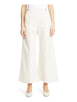 Rosetta Getty pintucked crop flare jeans