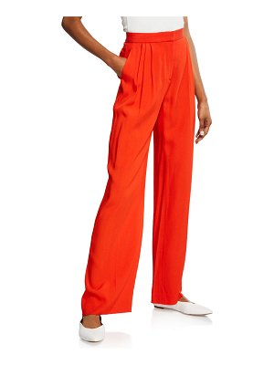 Rosetta Getty Pleated Wide Leg Trousers