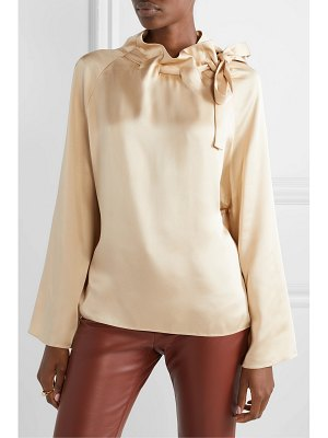 Rosetta Getty tie-neck satin blouse