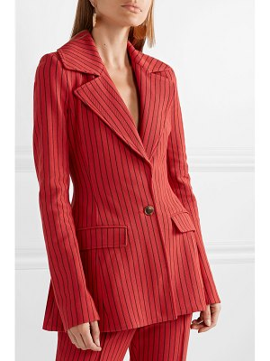 ROSIE ASSOULIN blaze your saddles striped cotton-blend jacquard blazer