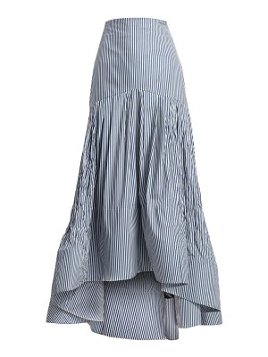 ROSIE ASSOULIN brush striped high-low maxi skirt