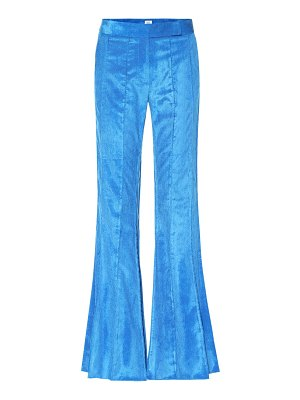 ROSIE ASSOULIN Pleated Flare corduroy pants