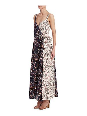 ROSIE ASSOULIN printed side-tie wrap maxi dress