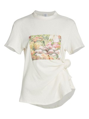 ROSIE ASSOULIN produce-print knotted t-shirt